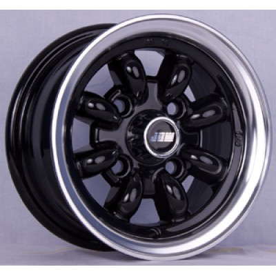 10x5 black mini alloy wheels