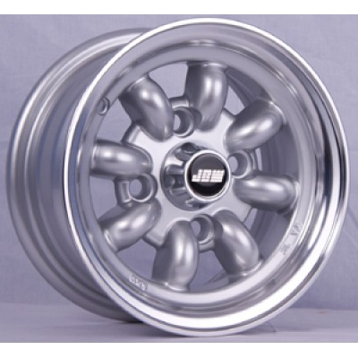 10x5 silver mini alloy wheels